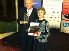 Mollie and Bill with awards