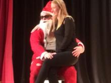 Kate and Santa having a chat